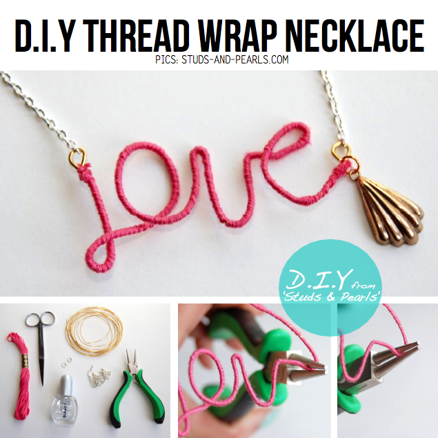 Love Necklace on Awesome Thread Wrap Love Necklace From    Studs   Pearls      D I Y