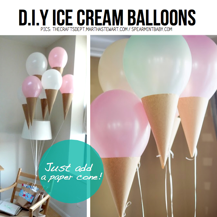 Making diy ice cream balloons is brilliantly easy, just add a paper