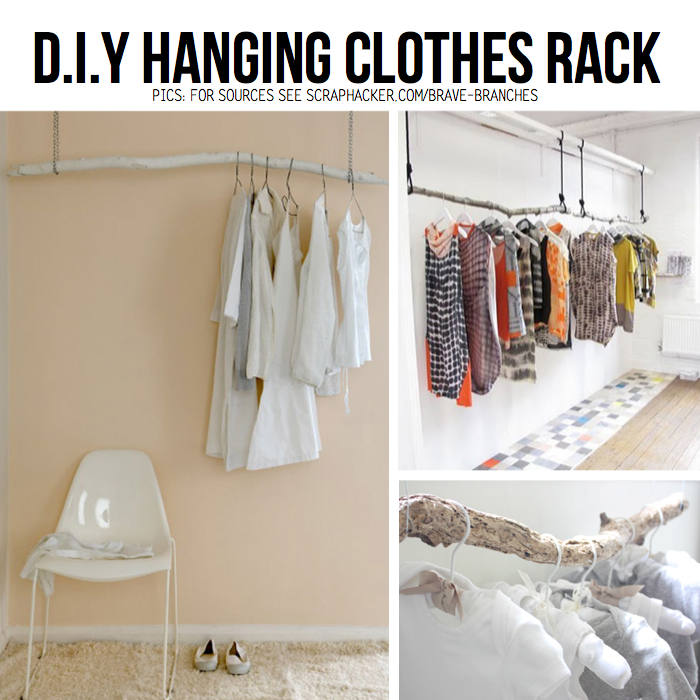 Put your stuff up in the air hanging diy ideas tutorials - Diy clothes storage ideas ...