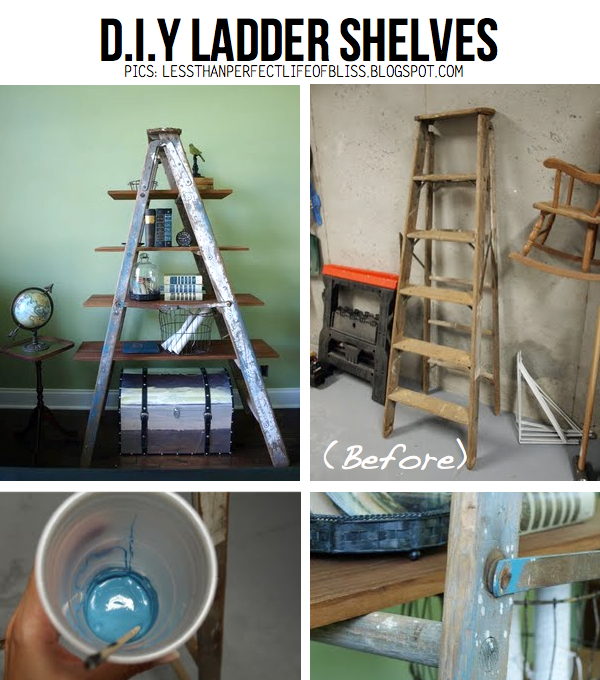 ... the way to score stylish ladder shelves in no time, DIY TUTORIAL HERE