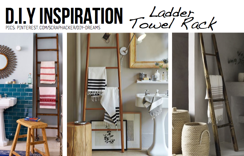 How To Make A Ladder Towel Rack
