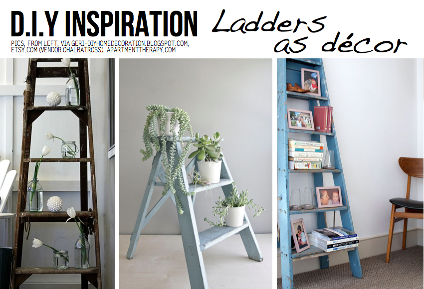 Spontaneous & decorative ladders add instant charm to any nook around ...