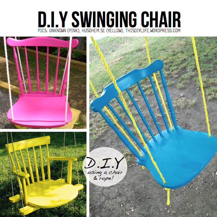Put your stuff up in the air hanging diy ideas tutorials for Diy indoor swing chair