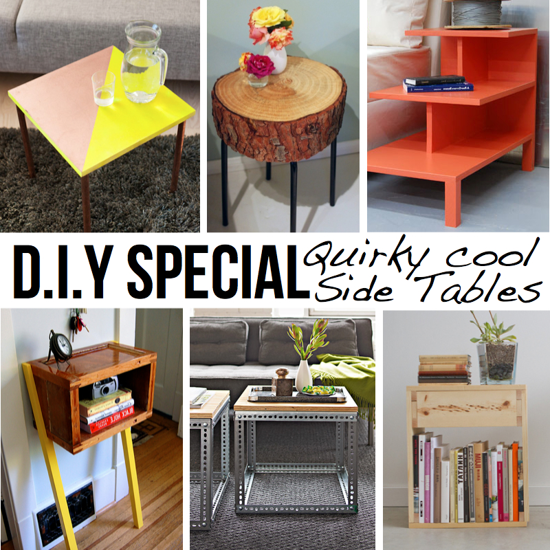 10 stylish diy side table ideas tutorials for Quirky home ideas