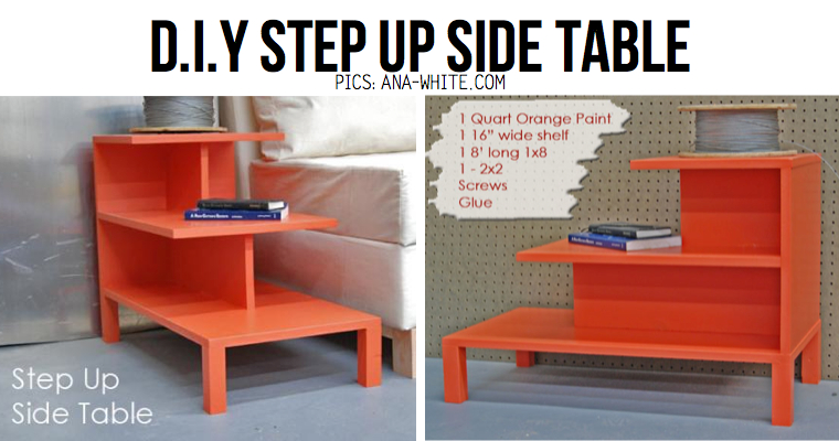 10 stylish diy side table ideas tutorials colorful clever diy step up side table watchthetrailerfo