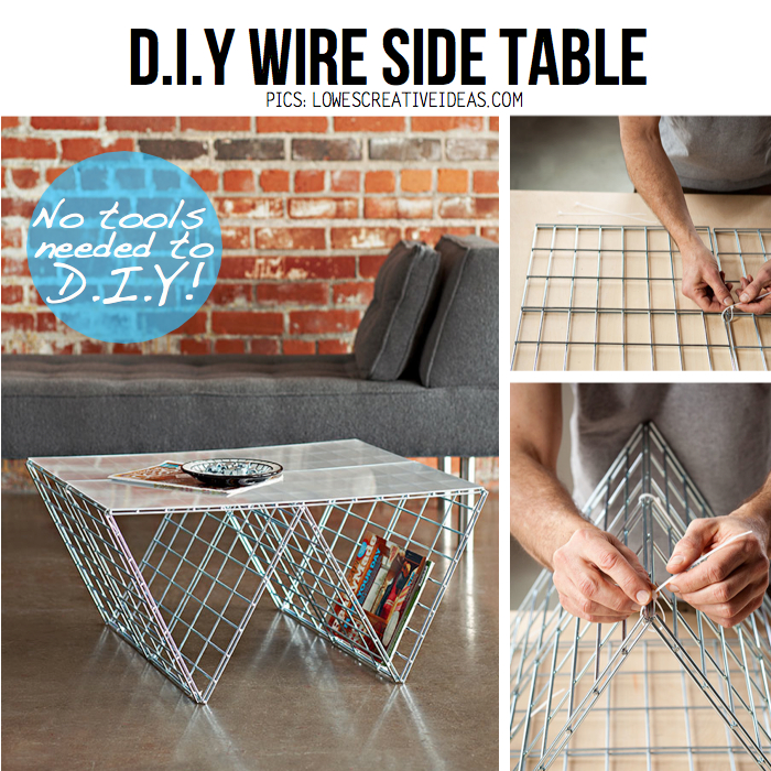 diy wire side table from lowes creative ideas diy tutorial