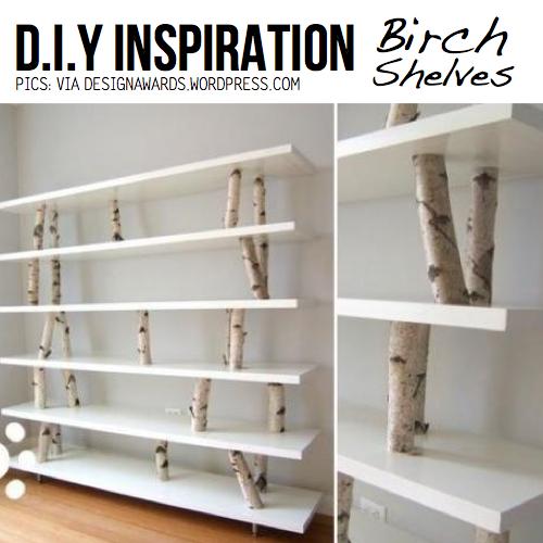 Birch Turf 10 DIY Ideas amp tutorials : birch shelves from scraphacker.com size 500 x 500 jpeg 226kB