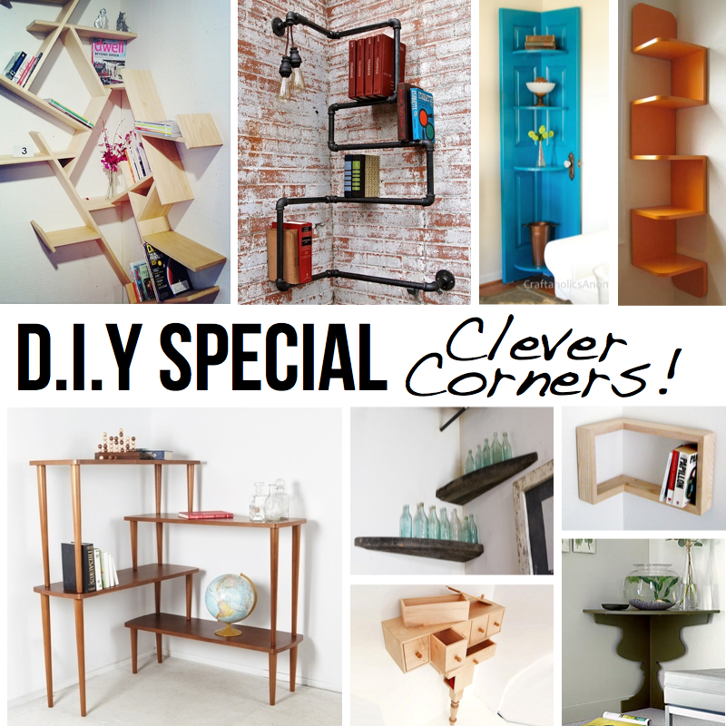 Clever corner diy solutions for Creative room decor