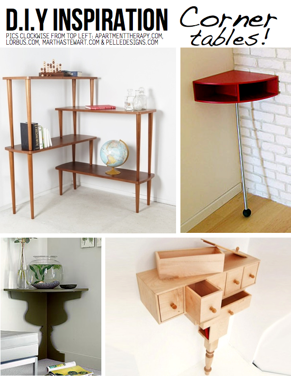Corner Table/shelf DIY Ideas ...