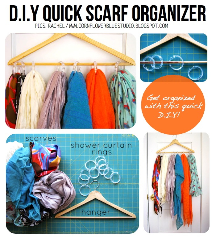 Hacky hanger diy 10 crafty ideas on how to repurpose old hangers super clever scarf solutioingenieria Image collections